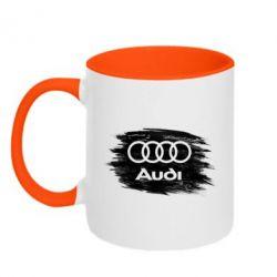 Кружка двоколірна 320ml Ауді арт, Audi art