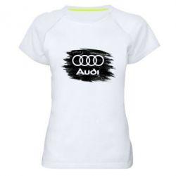 Жіноча спортивна футболка Ауді арт, Audi art
