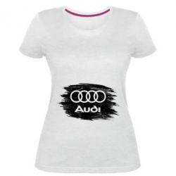 Жіноча стрейчева футболка Ауді арт, Audi art