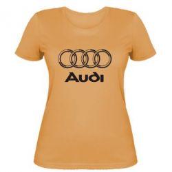 Женская футболка Audi Big - FatLine