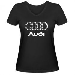 Женская футболка с V-образным вырезом Audi Big - FatLine