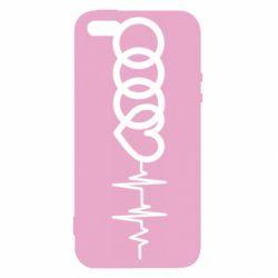 Купить Чехол для iPhone5/5S/SE Audi heart rate, FatLine