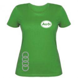 Женская футболка Audi Logo