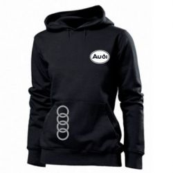 Женская толстовка Audi Logo