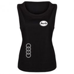 Женская майка Audi Logo
