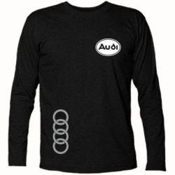 Футболка с длинным рукавом Audi Logo - FatLine