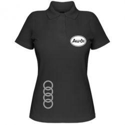 Женская футболка поло Audi Logo