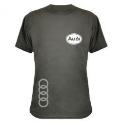 Камуфляжна футболка Логотип Audi