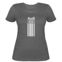 Женская футболка Aуди лого