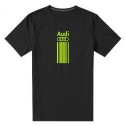 Мужская стрейчевая футболка Aуди лого