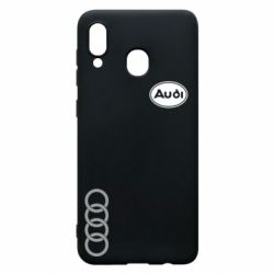 Чохол для Samsung A20 Логотип Audi