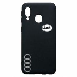 Чехол для Samsung A40 Audi Logo