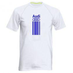 Мужская спортивная футболка Aуди лого