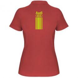 Женская футболка поло Aуди лого
