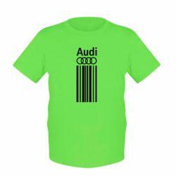 Детская футболка Aуди лого