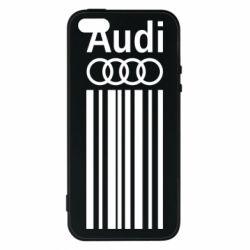 Audi, Чехол для iPhone5/5S/SE Aуди лого, FatLine  - купить со скидкой