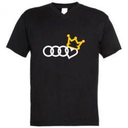 Чоловіча футболка з V-подібним вирізом Audi queen
