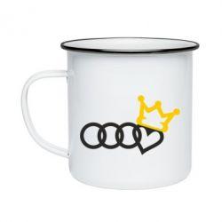 Кружка емальована Audi queen