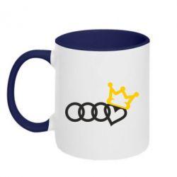Кружка двоколірна 320ml Audi queen