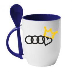 Кружка з керамічною ложкою Audi queen