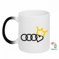 Кружка-хамелеон Audi queen