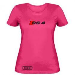 Женская футболка Audi RS4 - FatLine