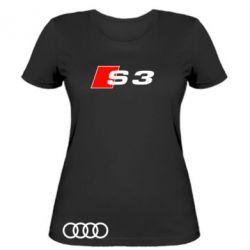 Женская футболка Audi S3 - FatLine