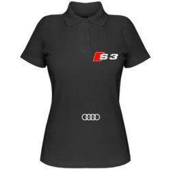 Женская футболка поло Audi S3 - FatLine