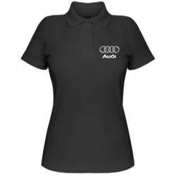 Женская футболка поло Audi Small - FatLine