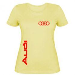 Женская футболка Audi Sport - FatLine