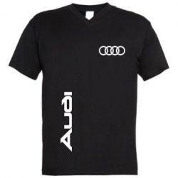 Мужская футболка  с V-образным вырезом Audi Sport - FatLine