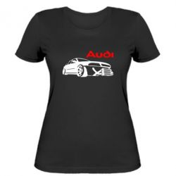 Женская футболка Audi Turbo