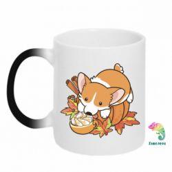 Кружка-хамелеон Autumn Corgi