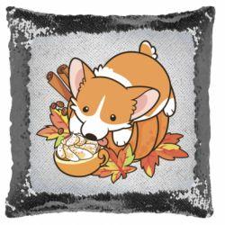 Подушка-хамелеон Autumn Corgi