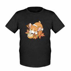 Детская футболка Autumn Corgi