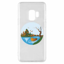 Чехол для Samsung S9 Autumn fishing