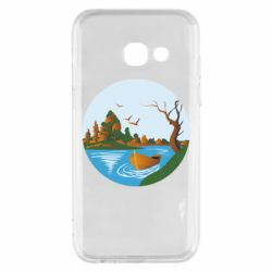 Чехол для Samsung A3 2017 Autumn fishing