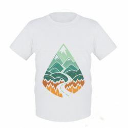 Детская футболка Autumn in the mountains