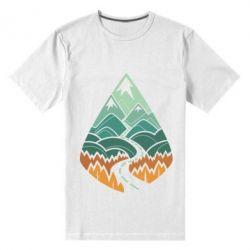 Мужская стрейчевая футболка Autumn in the mountains