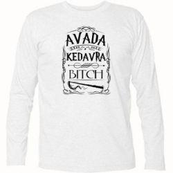 Футболка с длинным рукавом Avada Kedavra Bitch