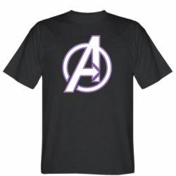 Мужская футболка Avengers and simple logo