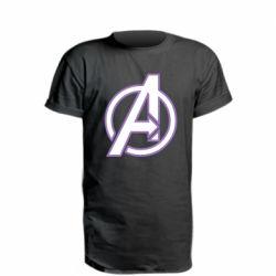 Удлиненная футболка Avengers and simple logo