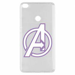 Чехол для Xiaomi Mi Max 2 Avengers and simple logo