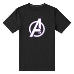Мужская стрейчевая футболка Avengers and simple logo