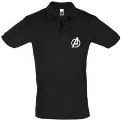 Мужская футболка поло Avengers and simple logo