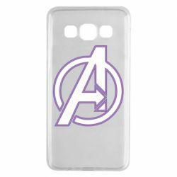 Чехол для Samsung A3 2015 Avengers and simple logo