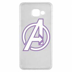 Чехол для Samsung A3 2016 Avengers and simple logo
