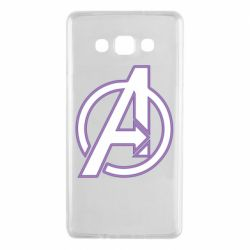 Чехол для Samsung A7 2015 Avengers and simple logo