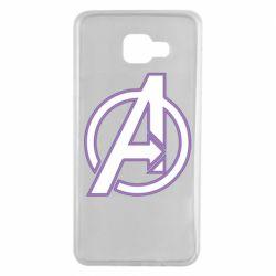 Чехол для Samsung A7 2016 Avengers and simple logo
