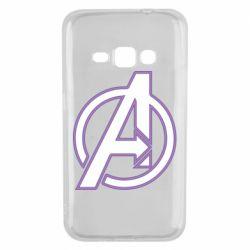 Чехол для Samsung J1 2016 Avengers and simple logo